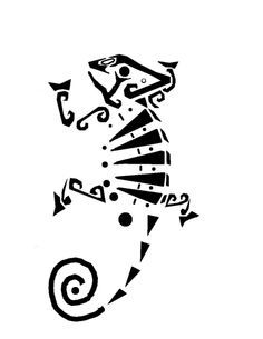chameleon tattoo drawing - Google Search