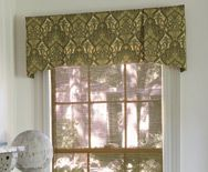 Handkerchief Valance is a simple yet elegant shape...