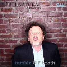 This man is evil right?! Love the SPN cast :D