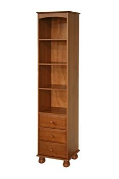 (could work, but not a fan of the bun feet)   -------------------------------------   Tall Narrow Bookshelf | tall narrow bookcase with 3 drawers - DD314
