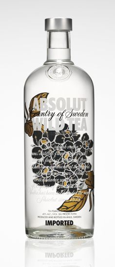Absolut Wild Tea Bottle Design.