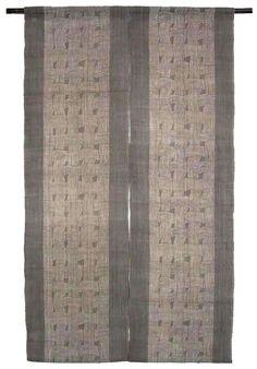 Japanese Noren Curtain   Linen   Ancient Japanese Pottery