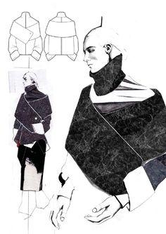 Fashion Sketchbook - fashion design drawings; fashion illustration; fashion portfolio layout; collection development // Andrew Voss