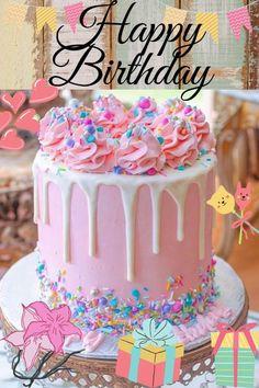 Happy Birthday Friend Cake, Happy Birthday Drinks, Animated Happy Birthday Wishes, Happy Birthday Greetings Friends, Happy Birthday Wishes Photos, Happy Birthday Cake Images, Happy Birthday Daughter, Cute Happy Birthday, Happy Birthday Celebration