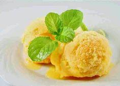 Make Your Own Cantaloupe Sorbet Easy Homemade Ice Cream, Easy Ice Cream Recipe, Ice Cream Recipes, Frozen Desserts, Frozen Treats, Cantaloupe Sorbet Recipes, Cooking Ice Cream, Ice Cream Flavors