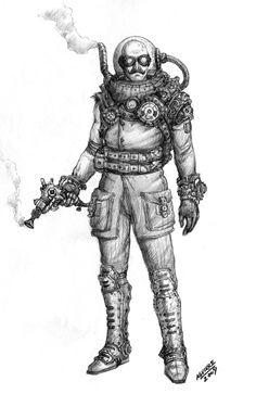 Mr Freeze Steampunk redesign by ~Tiobolasdoro