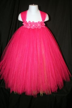 Hey, I found this really awesome Etsy listing at https://www.etsy.com/listing/202422933/hot-pink-tutu-dress-fuchsia-flower-girl