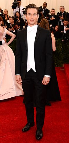Matt Bomer wears Calvin Klein Collection to the 2014 Met Gala