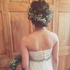 """インスタ発! 甘ゆる""""バランス編み込み""""花嫁ヘア Hair Comb Wedding, Wedding Hair And Makeup, Wedding Bride, Hair Makeup, Wedding Dresses, Dance Hairstyles, Bride Hairstyles, Formal Hairdos, Bridal Hairdo"""