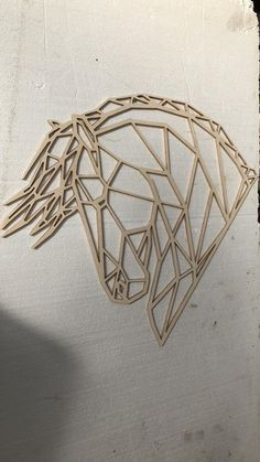 Geometric Quilt, Geometric Art, 3d Zeichenstift, Origami, Cut Out Art, Horse Cards, String Art Patterns, Horse Pattern, Art Impressions
