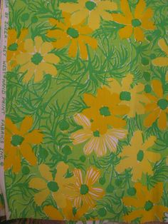 "Vintage Lilly Pulitzer fabric ""Ida"" by Zuzek Key West Handprint Fabrics Inc."