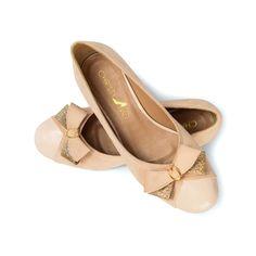 Beige Suede Ballerina Flats Beige Suede Work by ChristyNgShoes