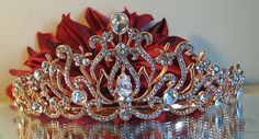 Rose Gold Plated Bridal Tiara von vintage4everbeauty auf Etsy