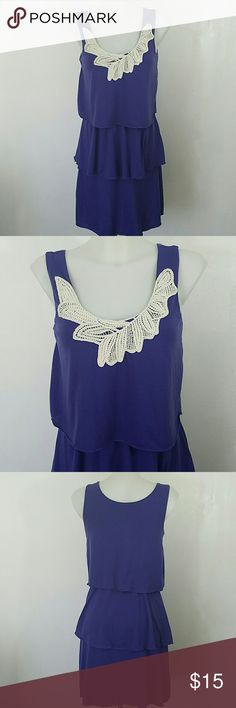 """Purple Summer Dress Purple Summer Dress by Corey P. In great condition. Size small.  Bust 32"""" Length 35"""" Waist 26"""" The waist is elastic. I measured it relaxed. Corey P. Dresses"""