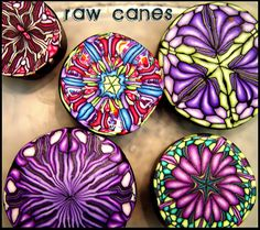 Polymer Clay Millifiore Canes (raw) by BeadazzleMe, via Flickr.