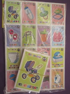 New design of the Baby Shower Loteria    This listing is for 1 Baby Shower Loteria game.    It comes in an unopened bag that includes 10 large