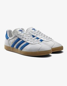 Adidas Gazelle Trainers 2 - Black/Cyan Blue