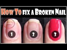 How to Fix a Broken Nail! Best tip ever.