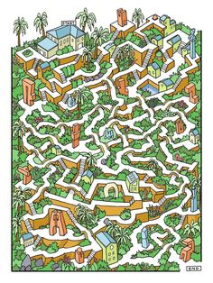 Amazing mazes: cities become graphic puzzles – in pictures Mazes For Kids, Printable Activities For Kids, Maze Drawing, Amazing Maze, Maze Design, Maze Puzzles, Maze Game, Hidden Pictures, Challenges