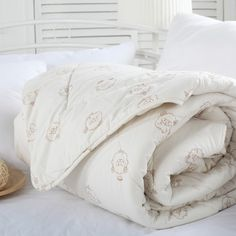 Luxury Australia Wool Comforters For Winter Elegant White Quilt Soft Comforter Queen Size
