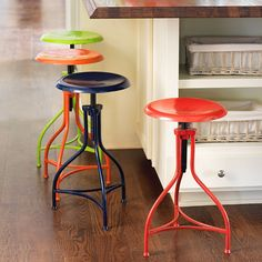 Bright and happy stools for counter area