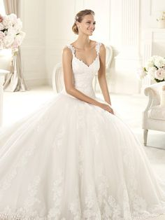 Ball gown with straps