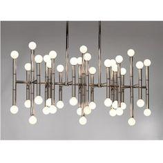 Ceiling Lighting - Meurice Rectangle Chandelier