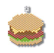 Juicy Hamburger by Megan's Beaded Designs
