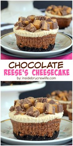 cheesecakes have a peanut butter mousse and Reese's peanut butter ...