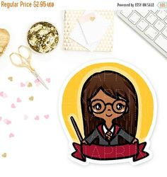 OFF Gryffindor Wizard Keenami Pre-made Chibi Keenachi Harry Potter Stickers, Personal Planners, Erin Condren, Travelers Notebook, Filofax, Chibi, Unique Jewelry, Handmade Gifts, Cards