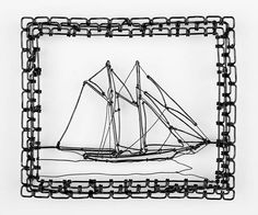 I would LOVE to own a C.W. Roelle wire sculpture. A tiny sailboat would be lovely. The squirrel with acorn would be great too!