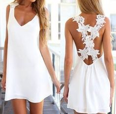 #pretty #instalook #fashiondiaries #white #lacedress #elegant #ootd #outfit #ladies #lace #summer #lookoftheday #instalooks #instaglam #whitedress #dress #cute #floral #woman #women #classy #beach #outfitiftheday #girl #trendy #hot #openbackdresses #dressy #mylook #shortdress #tan #instamode #summerdress #style #girly #girly #girlywishlist #fashionaddict #girlystyle #rosewholesalejan #vneck https://goo.gl/4EjRW9