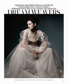 Dream Weavers | Stella Tennant | Daniel Jackson #photography | #styling Tiina Laakkonen | WSJ Magazine May 2012