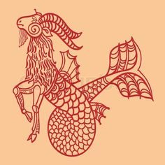 The symbol for Capricorn is a goat with a fish tail. Learn more: http://www.astrograph.com/learning-astrology/capricorn.php