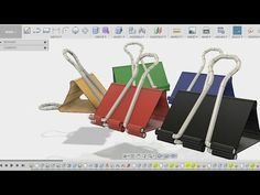 How to make Binder clip - fusion 360 beginners tutorial Fusion 360, Autodesk Inventor, 360 Design, Cad Cam, Binder Clips, Autocad, Cnc, 3d Printing, Software