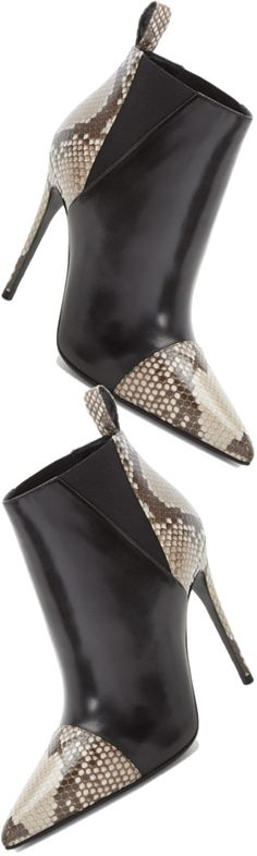 Gucci 'Daisy' Pointy Toe Genuine Python & Leather Bootie