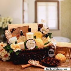 Spa Therapy Relaxation Gift Hamper  www.kathysholiday.com