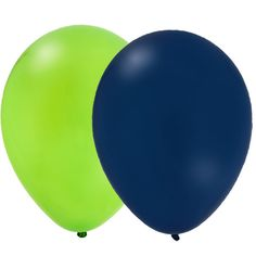 navy and lime balloons