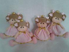 Boneca em feltro princesa