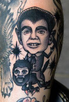 Eddie Munster tattoo