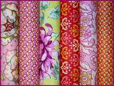 Heather Bailey Fabric  Freshcut Collection PINK by imaginefabric, $16.50