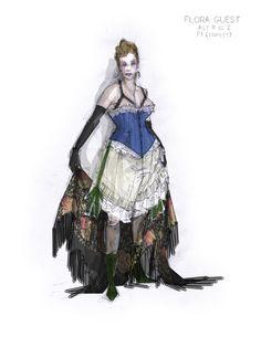 La Traviata (Flora Guest). Boston Lyric Opera. Costume design by Jacob A. Climer.