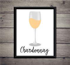 Chardonnay Wine Digital Art Print  Instant by ThoughtWorksByAbby