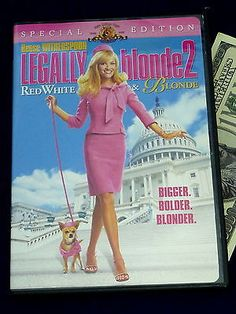 Legally Blonde 2 DVD Red White Blonde Special Edition Witherspoon DVDs & Movies:DVDs & Blu-ray Discs www.internetauctionservicesllc.com $8.99