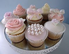 Cupcake Occasions uk, Indian Weddings Inspirations. Pink wedding cupcakes. Repinned by #indianweddingsmag #bakery indianweddingsmag.com