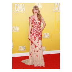 Taylor Swift Celebrates Her Red-Hot Release at the CMA Awards ❤ liked on Polyvore