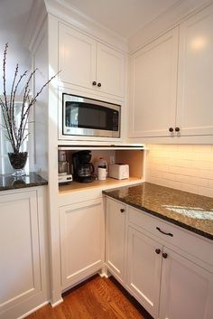 Double oven with microwave oven in kitchen nelson http for Apartment therapy coffee maker