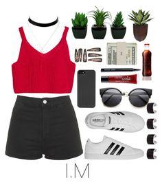 """MonstaX"" by vieen on Polyvore featuring мода, Topshop, HEX, Maison Margiela, adidas, philosophy, Bobbi Brown Cosmetics и Jack Spade"