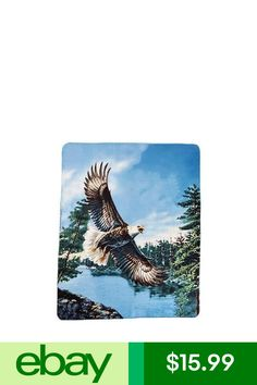 Animals & Nature Lower Price with Wildlife Collage Eagles Deer Wolves Faux Fur Queen Size Blanket Wolf Deer Eagle Blankets & Throws