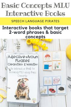 Basic Concepts MLU Interactive Books for increasing MLU in preschool students with autism spectrum disorders in speech therapy
